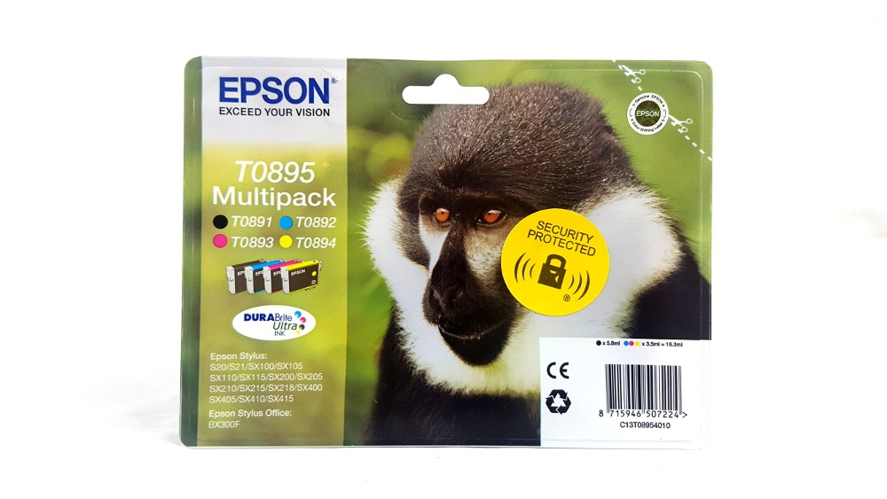 Genuine Epson Multipack 4-colours T0895 DURABright Ultra Ink Cartridges (C13T08954010)