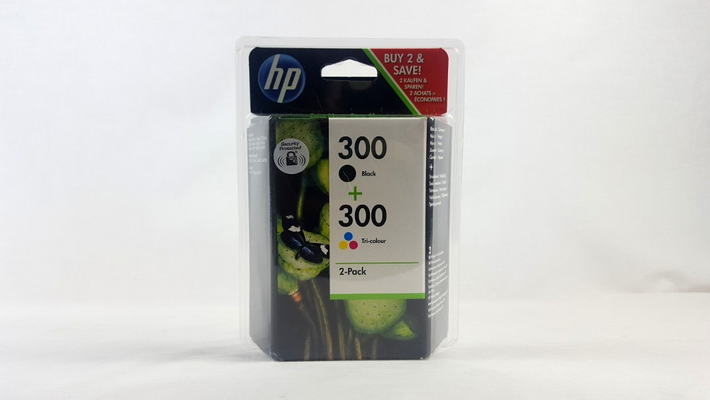 Genuine HP 300 2-pack Black/Tri-colour Original Ink Cartridges (CN637EE)