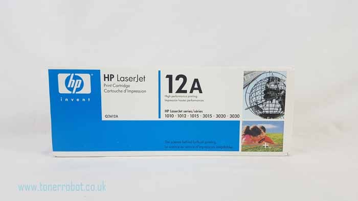 Genuine HP 12A Black Toner Cartridge (Q2612A)