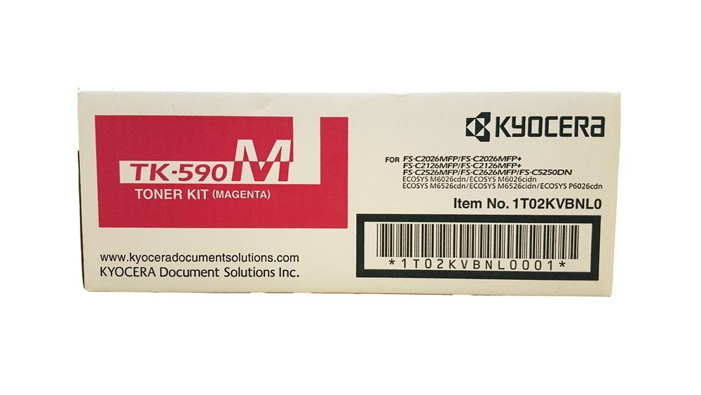 Genuine Kyocera TK-590M Magenta Toner Cartridge (TK590M)