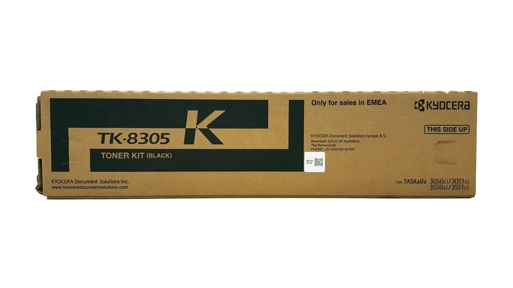 Genuine Black Kyocera TK-8305K Toner Cartridge - (TK8305K)