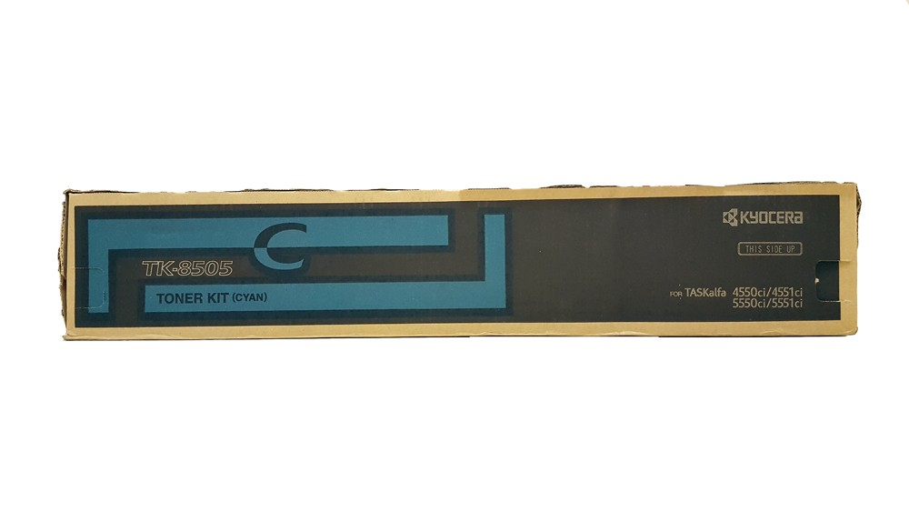 Genuine Cyan Kyocera TK-8505C Toner Cartridge - (TK8505C)