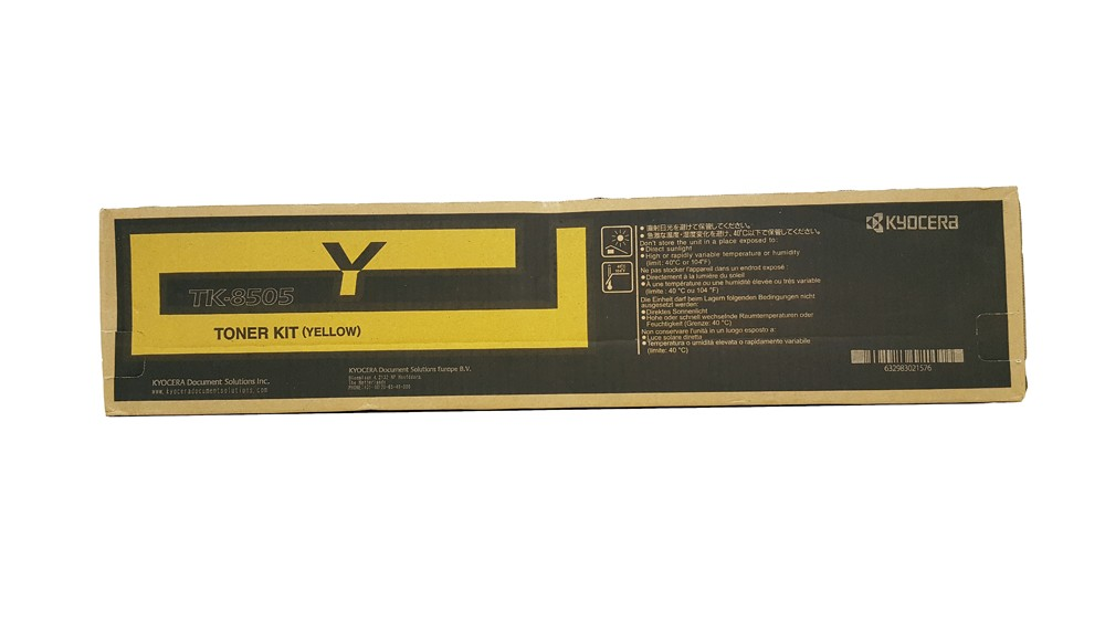 Genuine Yellow Kyocera TK-8505Y Toner Cartridge - (TK8505Y)