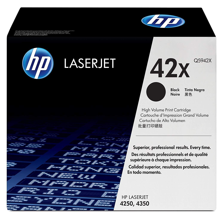 Genuine HP 42X High Capacity Black Toner Cartridge (Q5942X)