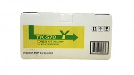Genuine Kyocera TK-570Y Yellow Toner Cartridge (TK570Y)