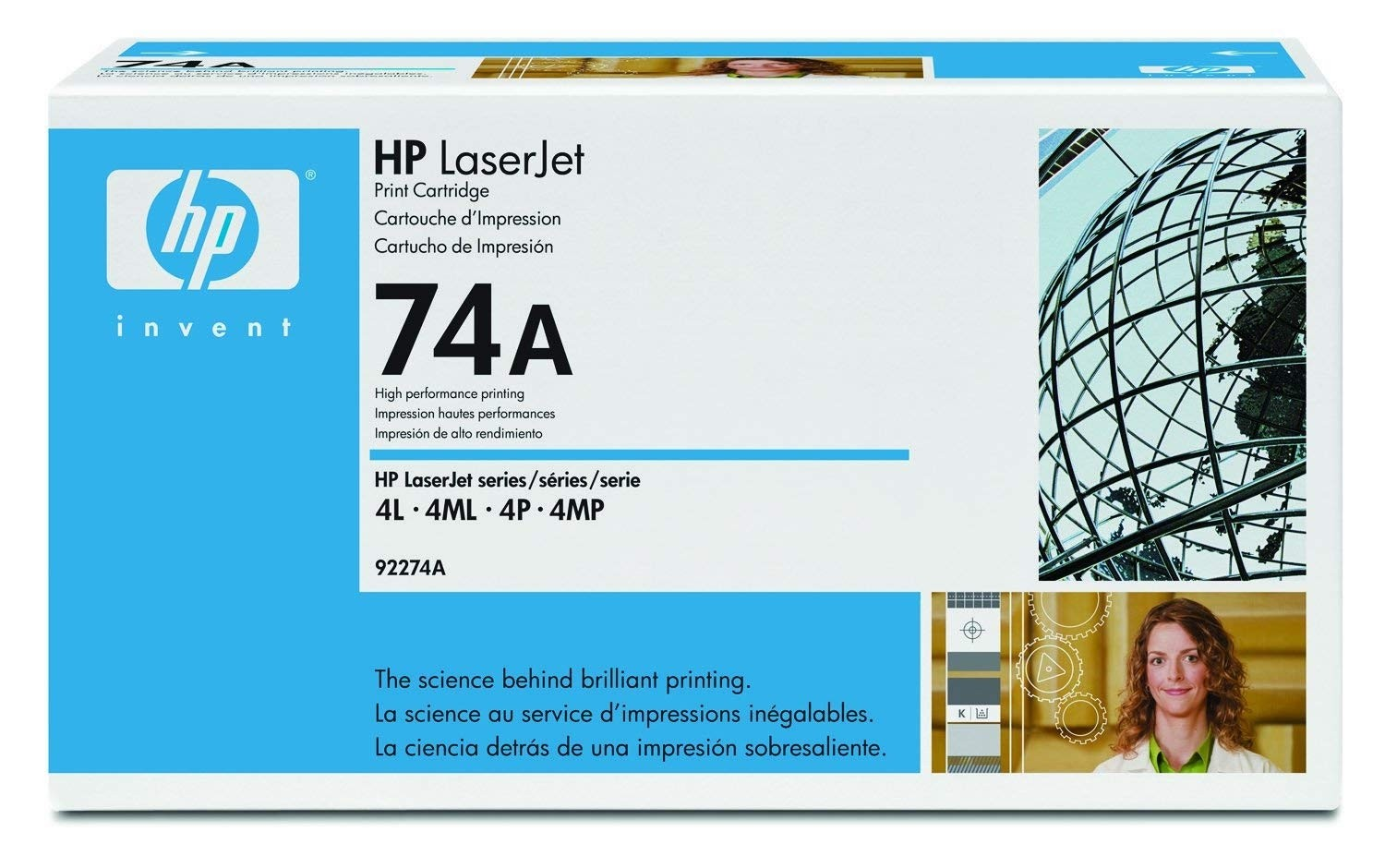 Genuine HP 74A Black Toner Cartridge (92274A)