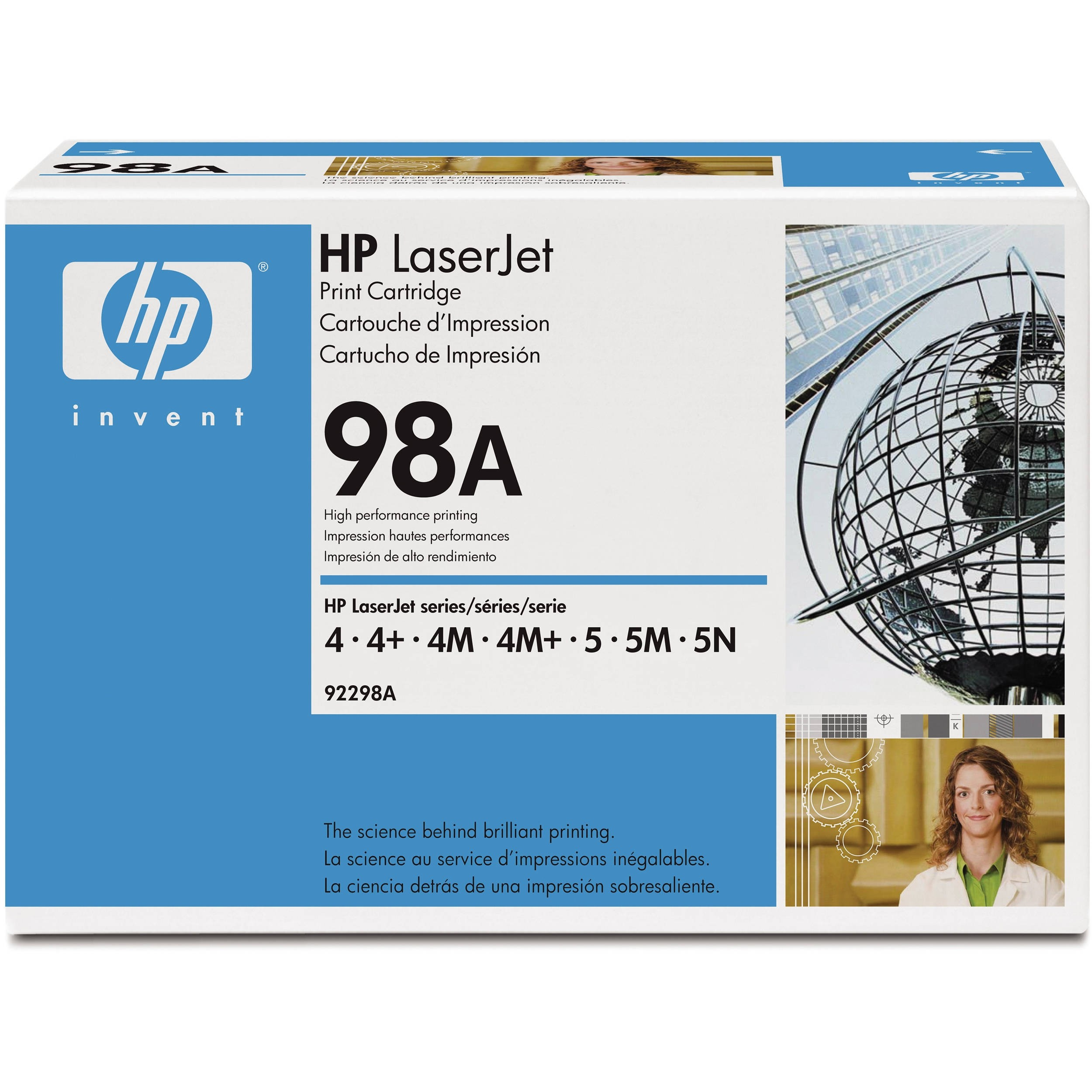 Genuine HP 98A Black Toner Cartridge (92298A)