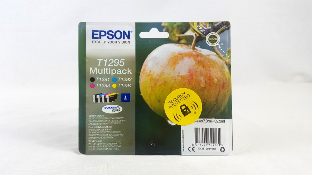 Genuine Epson Multipack 4-colours T1295 DURABrite Ultra Ink Cartridges (C13T12954012)