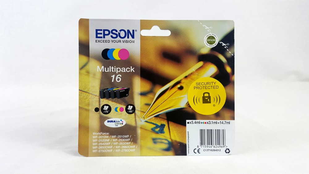 Genuine Epson Multipack 4-colours 16 DURABright Ultra Ink Cartridges (C13T16264012)