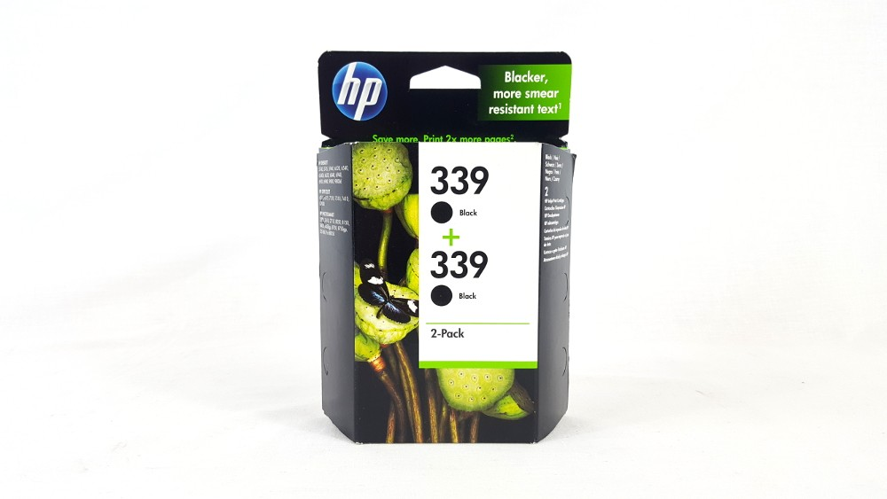 Genuine HP 339 Twin Pack Black Ink cartridges (C9504EE)