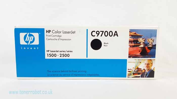 Genuine HP C9700A Black Toner Cartridge (C9700A)