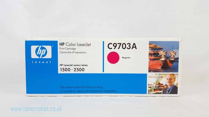 Genuine HP C9703A Magenta Toner Cartridge (C9703A)