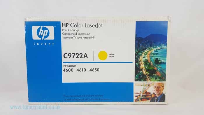 Genuine HP C9722A Yellow Toner Cartridge (C9722A)