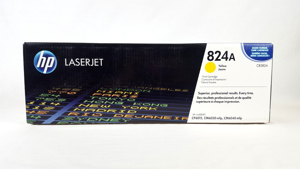 Genuine HP 824A Yellow Toner Cartridge (CB382A)
