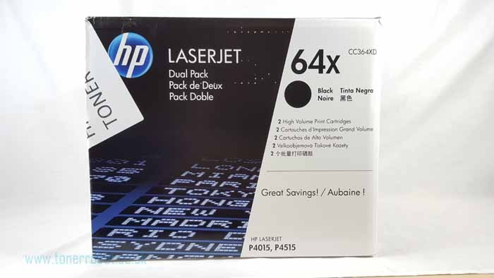 Genuine HP 64X High Capacity Black Toner Cartridge (CC364X)