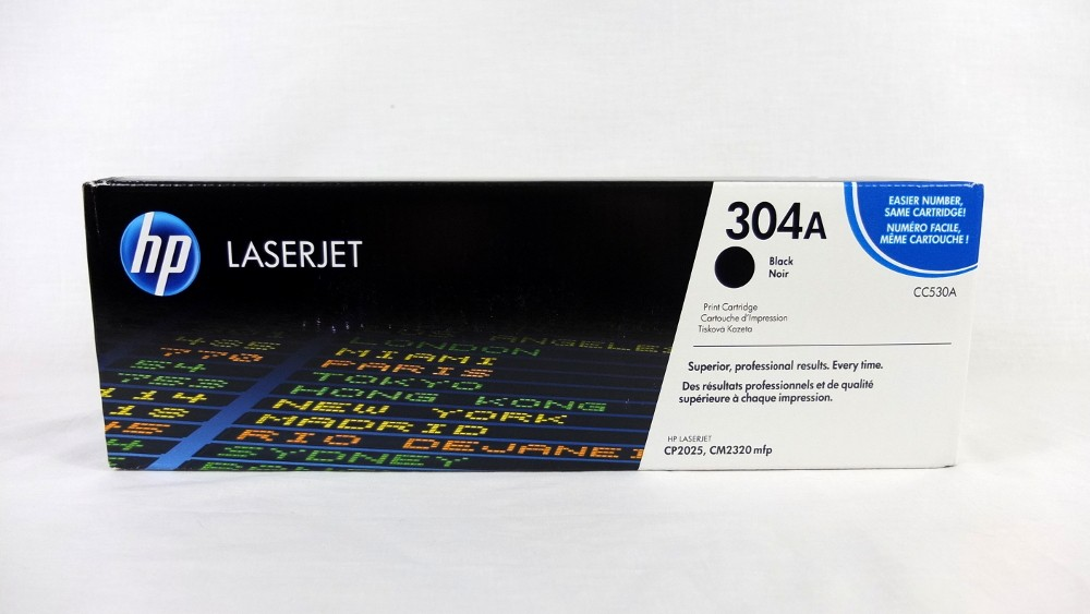 Genuine HP 304A Black Toner Cartridge (CC530A)