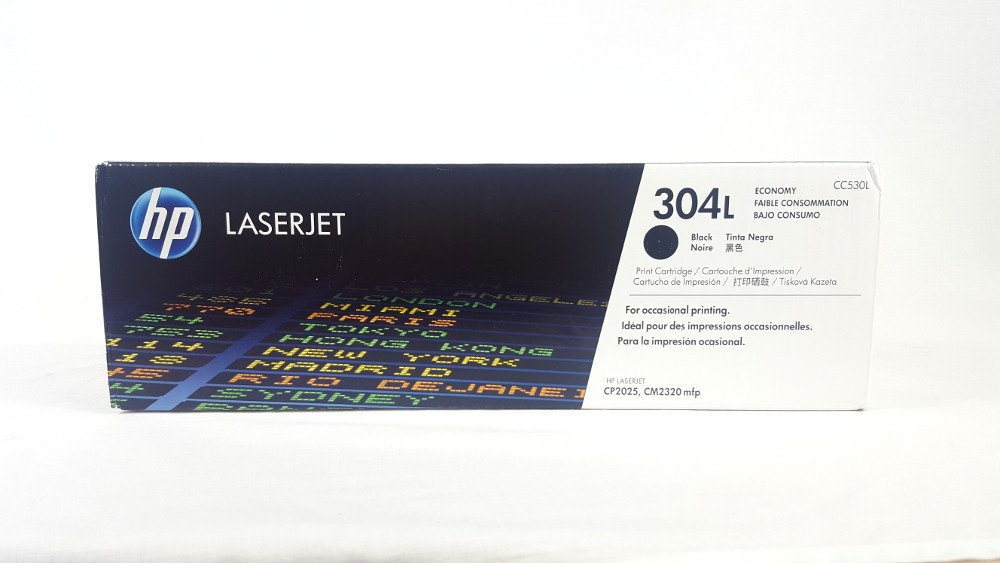 Genuine HP 304L Economy Black Original LaserJet Toner Cartridge (CC530L)
