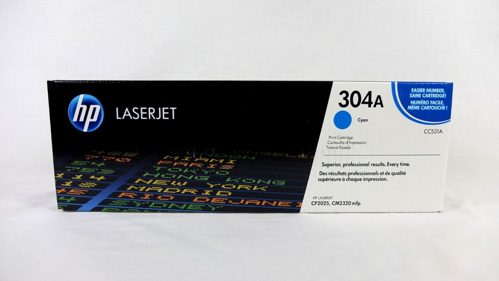 Genuine HP 304A Cyan Toner Cartridge (CC531A)