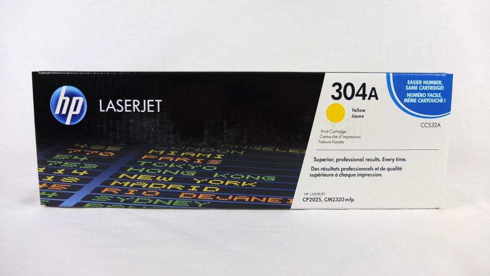 Genuine HP 304A Yellow Toner Cartridge (CC532A)