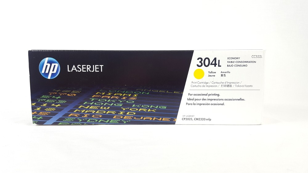 Genuine HP 304L Economy Yellow Original LaserJet Toner Cartridge (CC532L)