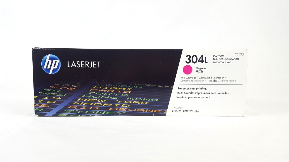 Genuine HP 304L Economy Magenta Original LaserJet Toner Cartridge (CC533L)