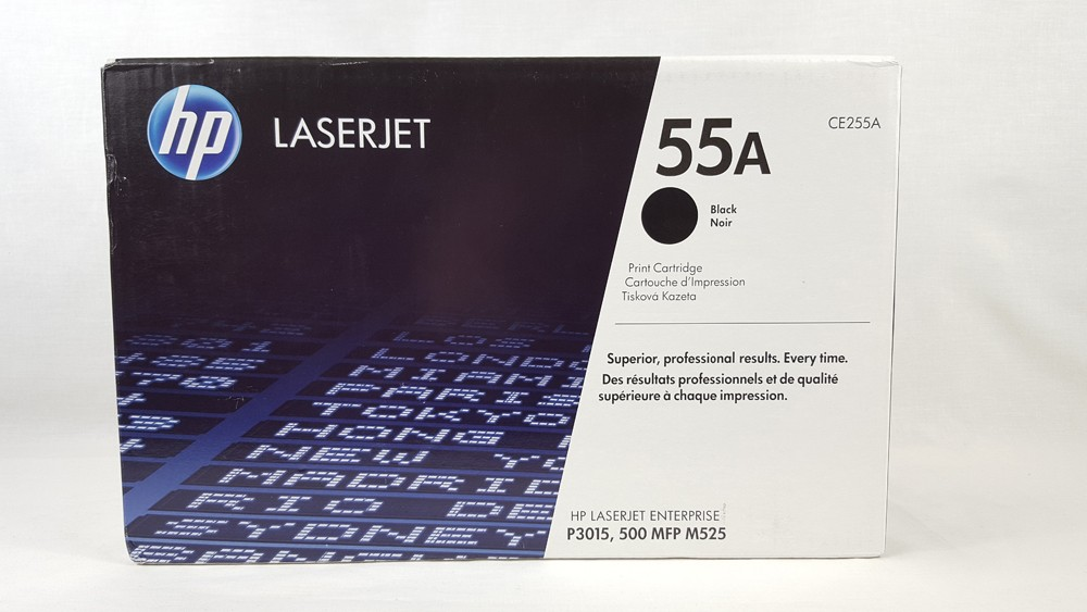 Genuine HP 55A Black Toner Cartridge (CE255A)