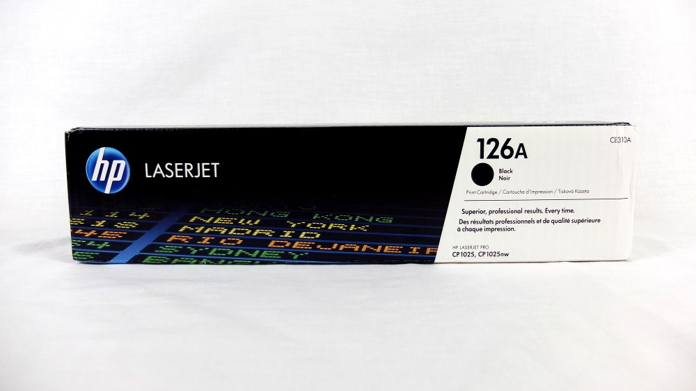 Genuine HP 126A Black Toner Cartridge (CE310A)