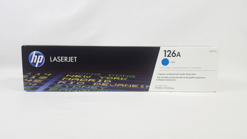 Genuine HP 126A Cyan Toner Cartridge (CE311A)
