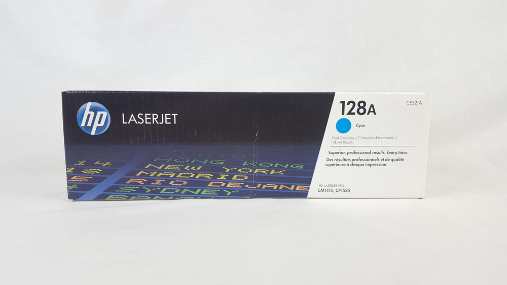 Genuine HP 128A Cyan Toner Cartridge (CE321A)