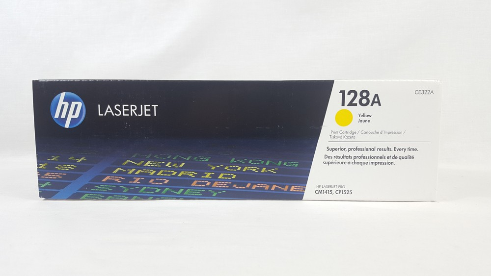 Genuine HP 128A Yellow Toner Cartridge (CE322A)