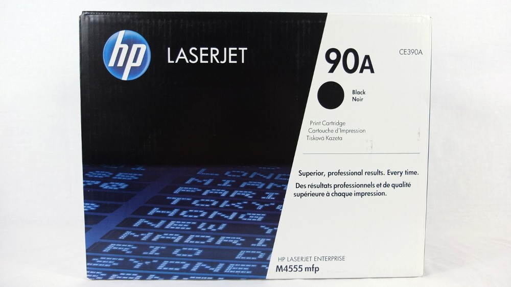 Genuine HP 90A Black Toner Cartridge (CE390A)
