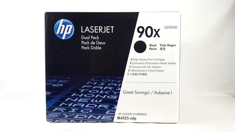 Genuine HP 90X 2-pack High Yield Black Original LaserJet Toner Cartridges (CE390XD)