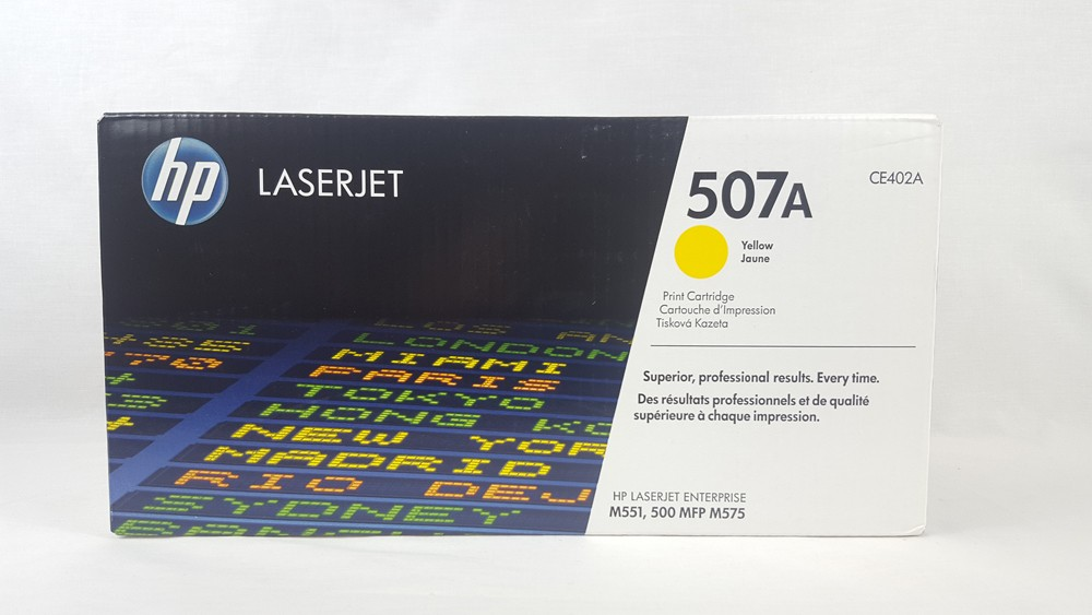 Genuine HP 507A Yellow Toner Cartridge (CE402A)