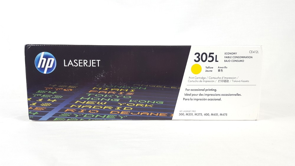 Genuine HP 305L Economy Yellow Original LaserJet Toner Cartridge (CE412L)