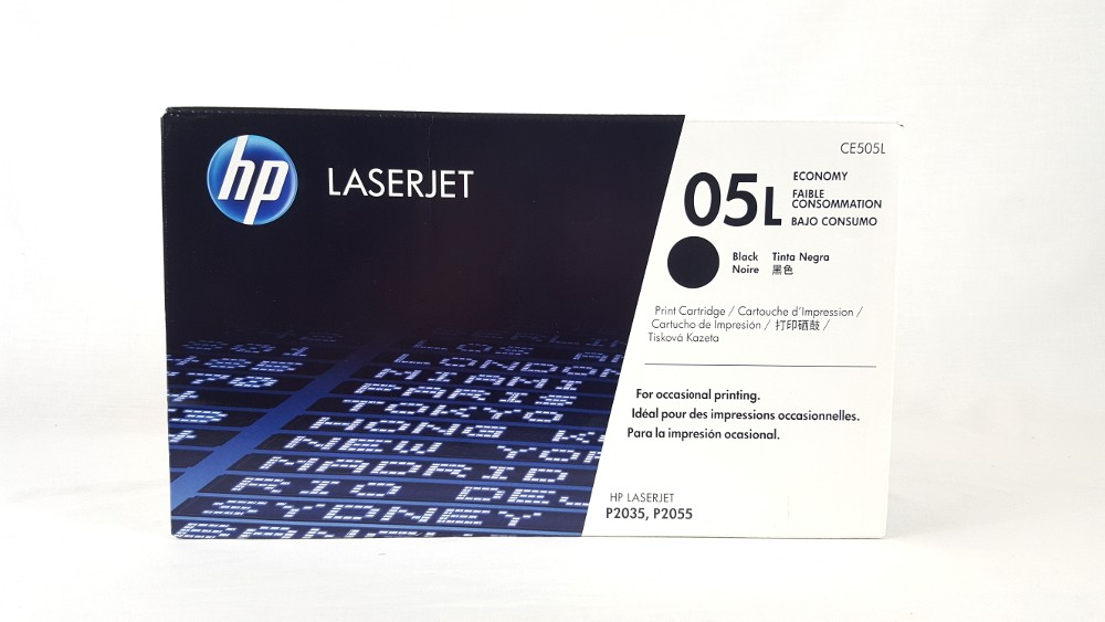 Genuine HP 05L Economy Black Original LaserJet Toner Cartridge (CE505L)