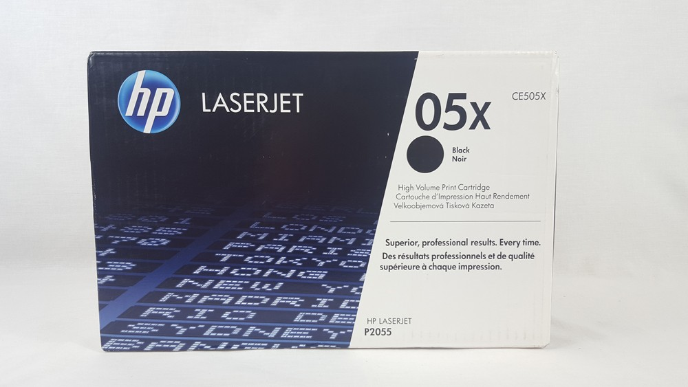 Genuine HP 05X High Capacity Black Toner Cartridge (CE505X)