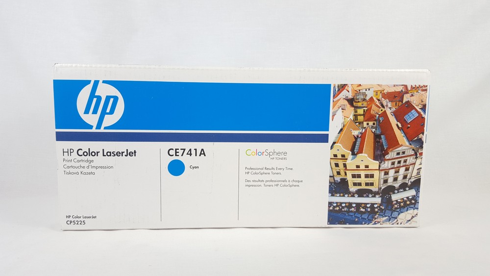 Genuine HP CE741A Cyan Toner Cartridge (CE741A)