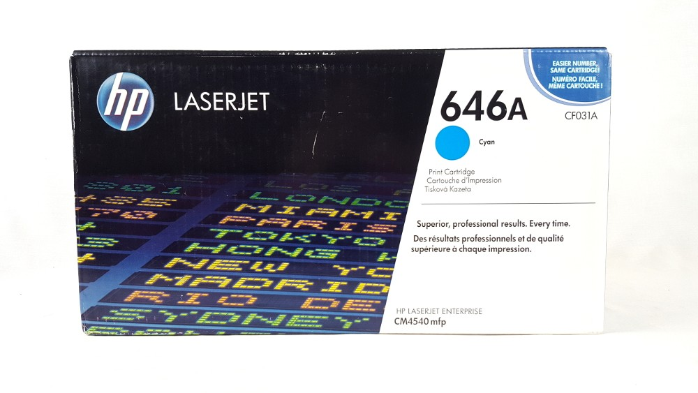 Genuine HP 646A Cyan Original LaserJet Toner Cartridge (CF031A)