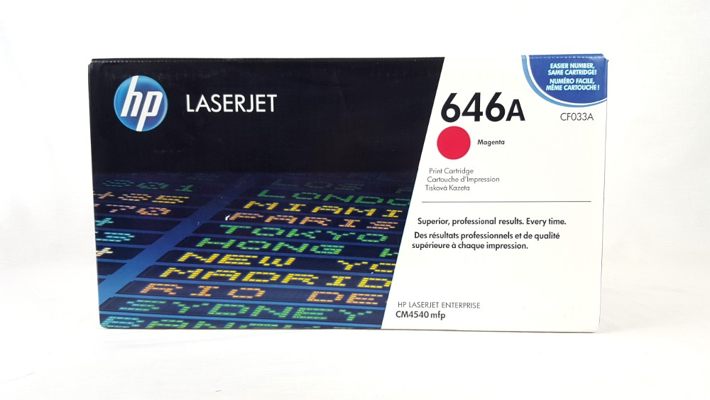 Genuine HP 646A Magenta Original LaserJet Toner Cartridge (CF033A)