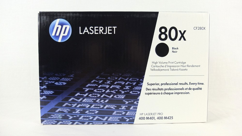 Genuine HP 80X High Capacity Black Toner Cartridge (CF280X)