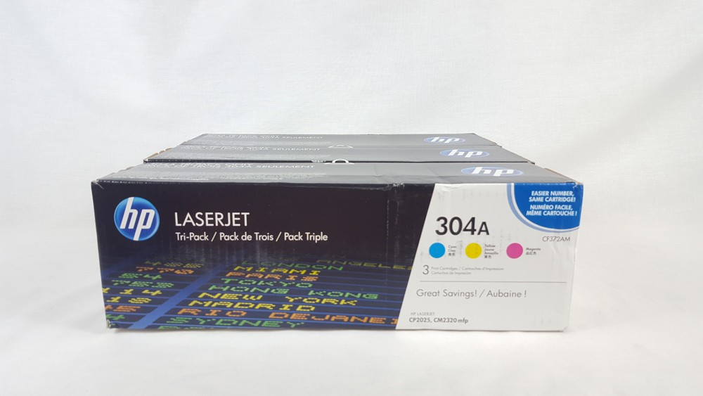 Genuine HP 304A C/M/Y Toner Multipack (CF372AM)