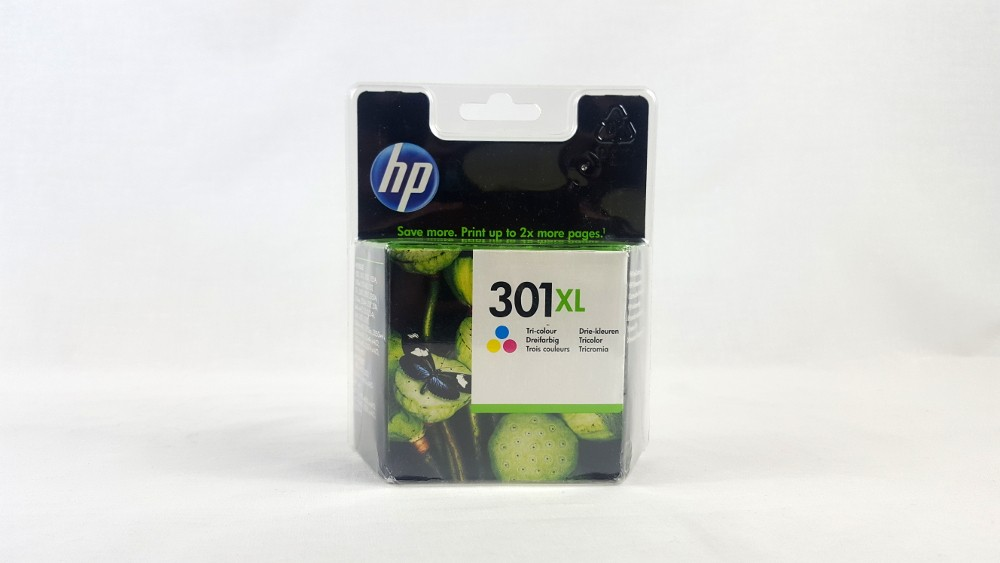 Genuine HP 301XL High Yield Tri-colour Original Ink Cartridge (CH564EE)