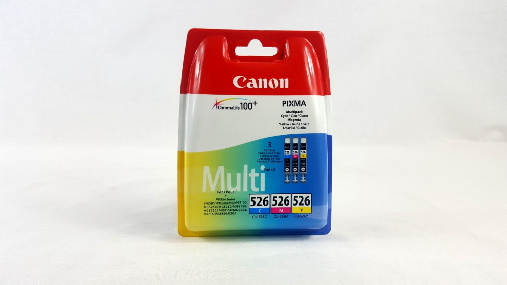 Genuine Canon CLI-526 C/M/Y Colour Ink Cartridge Multipack (4541B009)