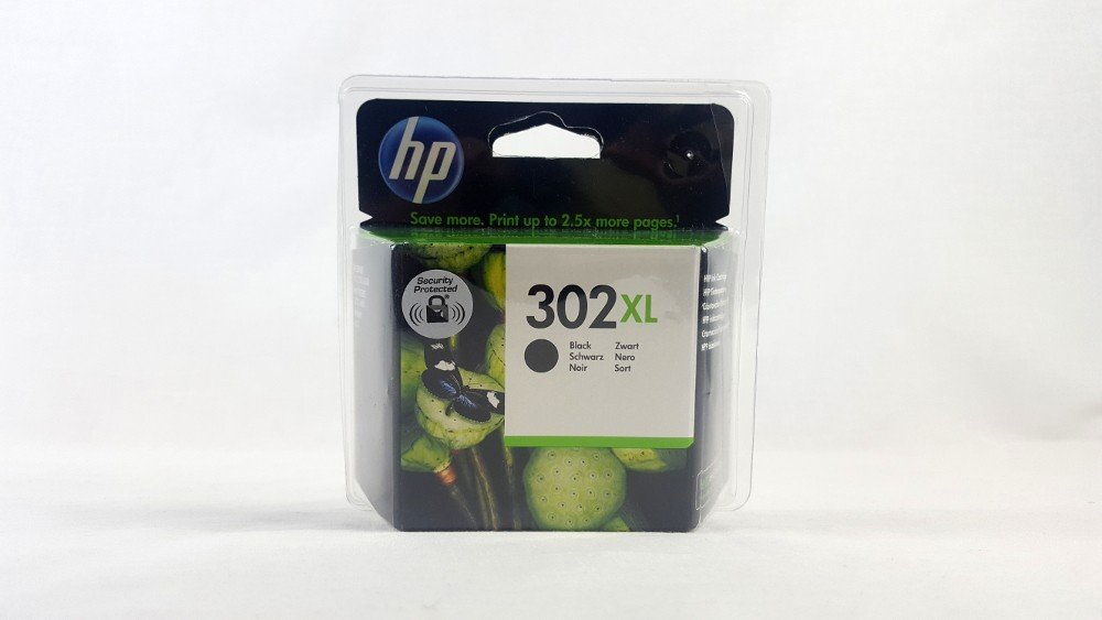 Genuine HP 302XL High Yield Black Original Ink Cartridge (F6U68AE)