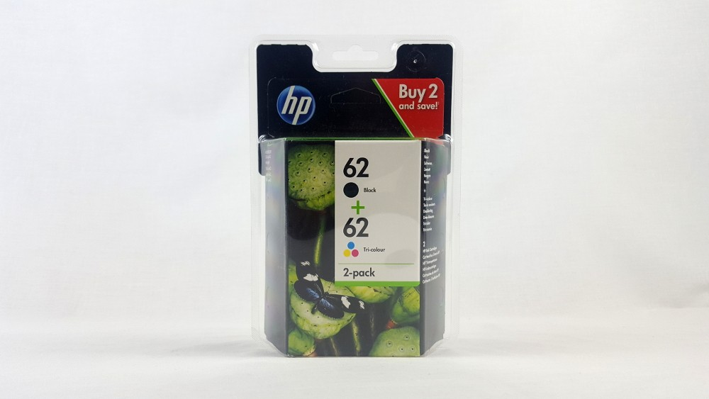 Genuine HP 62 Black/Tri-colour Ink Cartridge Combo 2-Pack (N9J71AE)