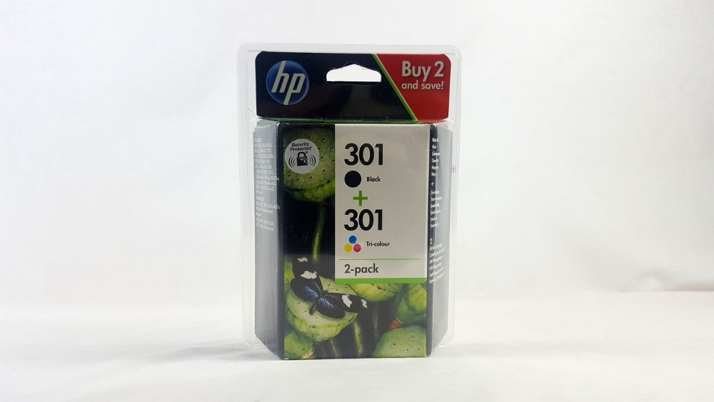 Genuine HP 301 Black and Tri-colour Original Ink Cartridges (N9J72AE)