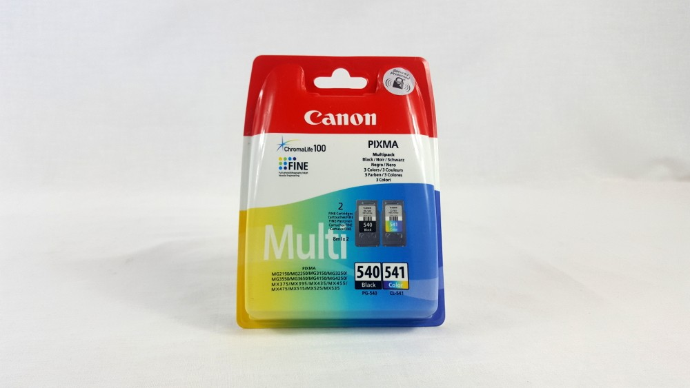 Genuine Canon PG-540/CL-541 BK/C/M/Y Ink Cartridge Multipack (5225B006)