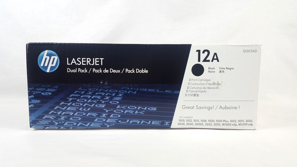 Genuine HP 12A Toner Dual Pack (Q2612AD)