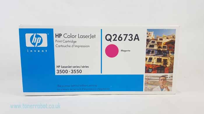 Genuine HP Q2673A Magenta Toner Cartridge (Q2673A)