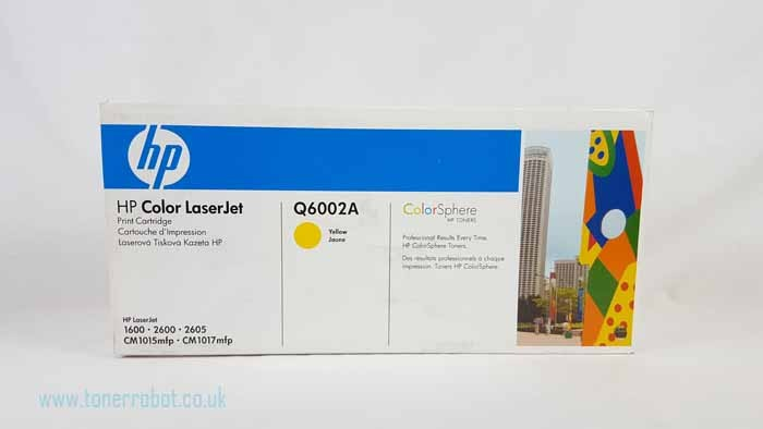 Genuine HP 124A Yellow Toner Cartridge (Q6002A)